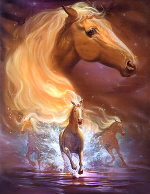 Running Horses Drawing - Dreams Need Hope To Run Free by Jeff Haynie