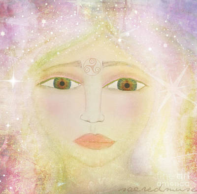 Welsh Goddess Painting - Dreams Of Avalon Tipple Goddess Guinevere  by Sacred  Muse