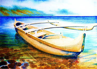 Outrigger Painting - Dreams Of Polynesia by Frances Ku