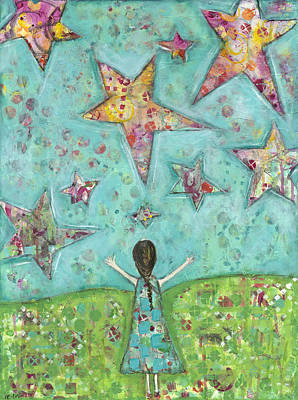 Dreams On Stars Art Print