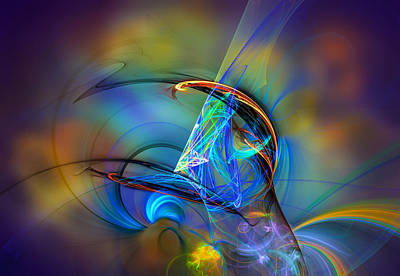 Surrealism Digital Art Rights Managed Images - Dreams really do come true Royalty-Free Image by Modern Abstract
