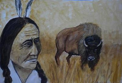 Dreams With Sitting Bull Original by Linda Waidelich