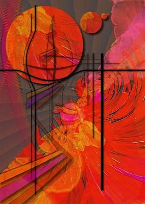 Tangerine Digital Art - Dreamscape 06 - Tangerine Dream by Mimulux patricia no No