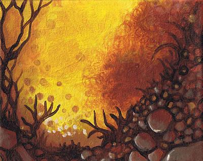 Dreamscape In Fall Tones #3 Of 4 Print by Laura Noel