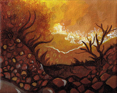 Dreamscape In Fall Tones #4 Of 4 Art Print by Laura Noel