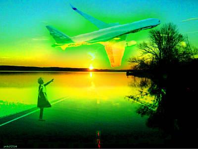 Etheric Digital Art - Subtle Plane Dreamscapes by Sarah  Niebank