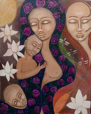 Shiloh Sophia Art Painting - Dreamtime Communion by Havi Mandell