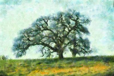 Oak Tree Mixed Media - Dreamtime Oak Tree by Priya Ghose