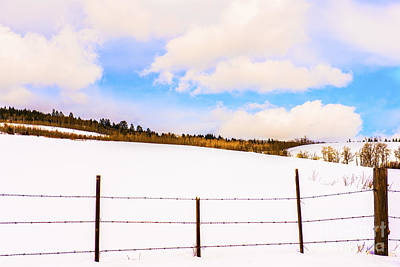 Country Snow Photograph - Dreamtime by Sandi Mikuse