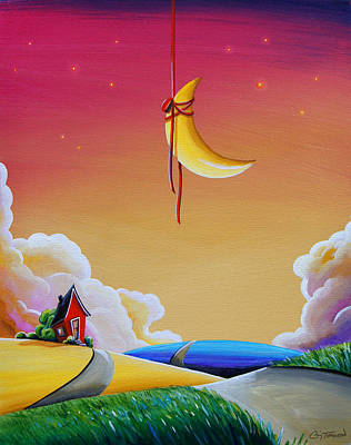 Illustrative Painting - Dreamville by Cindy Thornton