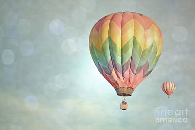 Photograph - Dreamy Balloon Pair Sky by Andrea Hazel Ihlefeld