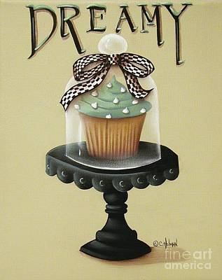 Dreamy Cupcake Art Print by Catherine Holman