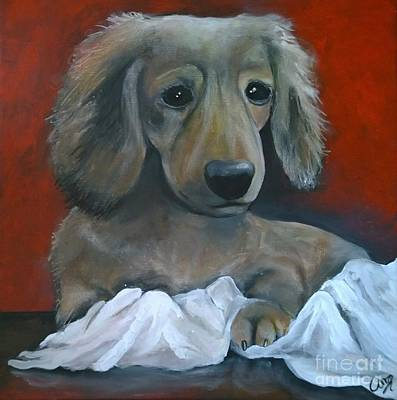 Painting - Dreamy Dachshund by Caroline Peacock
