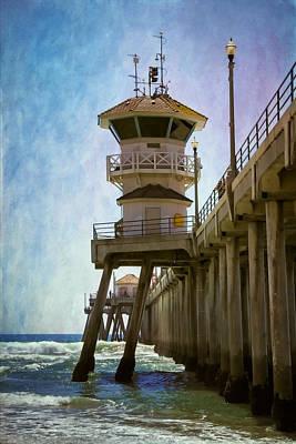 Dreamy Day At Huntington Beach Pier Art Print by Joan Carroll