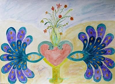 Dreamy Heart Art Print by Sonali Gangane