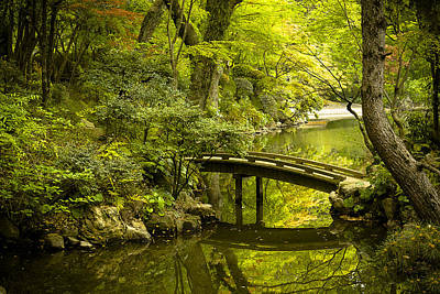 Garden Bridge Photograph - Dreamy Japanese Garden by Sebastian Musial