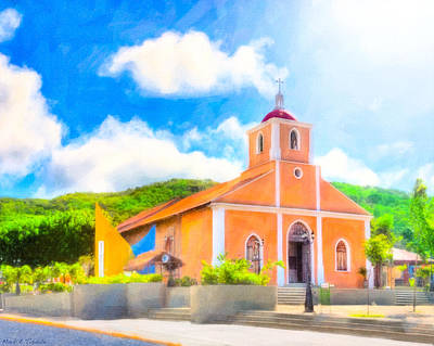 Photograph - Dreamy Little Church In The Tropical Sun by Mark E Tisdale