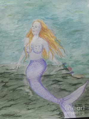 Painting - Dreamy Mermaid by Jeanette Hibbert