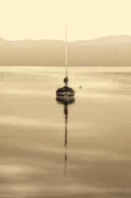 Photograph - Dreamy Misty Windermere Morning by Meirion Matthias