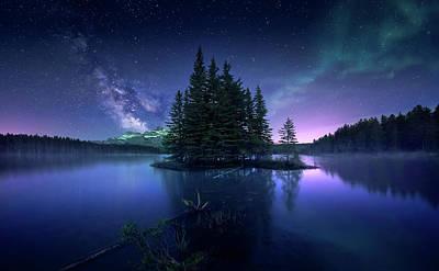 Banff Wall Art - Photograph - Dreamy Night by Jes??s M. Garc??a