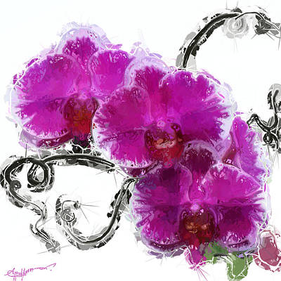 Dreamy Orchids Art Print by Anthony Fishburne