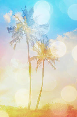 Photograph - Dreamy Palm Trees by Patricia Awapara