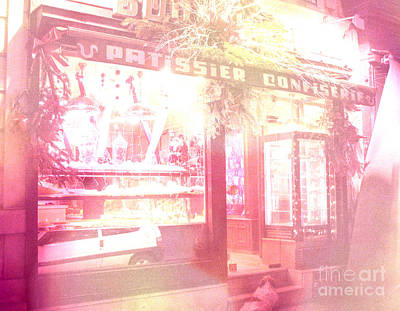 Paris Macaron Shop Photograph - Dreamy Paris Pink Confectionary Candy And Pastry Shop by Kathy Fornal