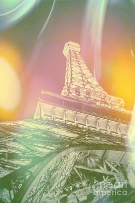 Eiffel Tower Digital Art - Dreamy Romance by Az Jackson