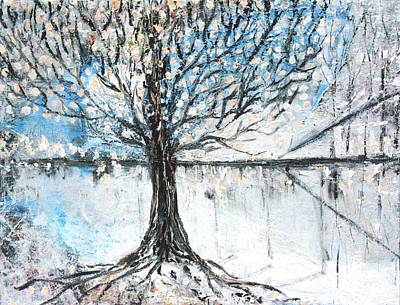 Tree Roots Painting - Dreamy Spring by Evelina Popilian