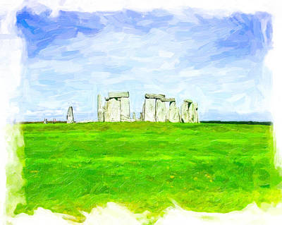 Photograph - Dreamy Stonehenge On The Salisbury Plain by Mark E Tisdale