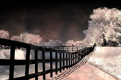 Dreamy Surreal Fantasy Infrared Color Landscape Art Print by Kathy Fornal