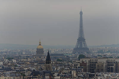 Paris Skyline Royalty-Free and Rights-Managed Images - Dreary Paris by Joseph Plotz