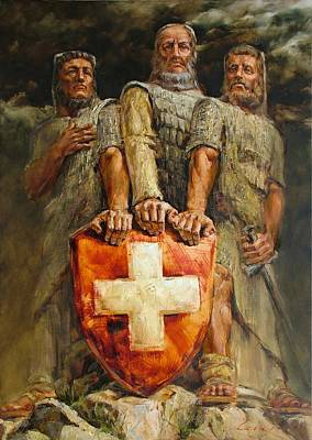Painting - Drei Eidgenossen by Andras Manajlo