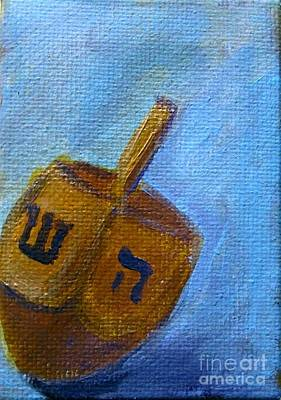 Painting - Dreidel by Laurie Morgan