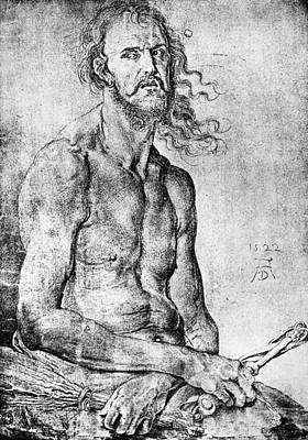 Self-portrait Drawing - D�rer Man Of Sorrows, 1522 by Granger