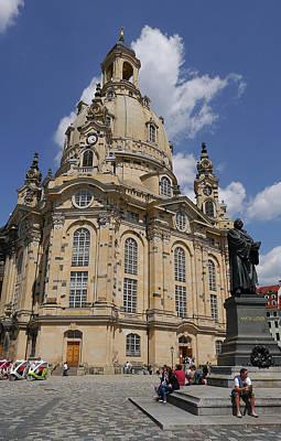 Photograph - Dresden- Frauenkirche by Herb Paynter