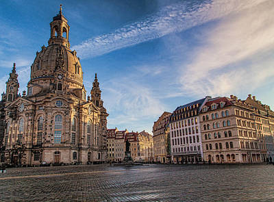 Dresden Photograph - Dresden Frauenkirche by Shirley Radabaugh