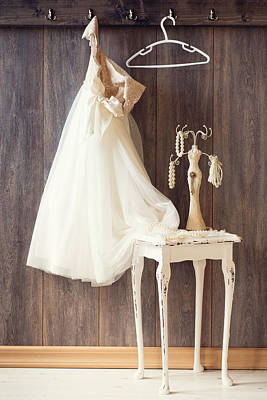 Coat Hanger Photograph - Dress by Amanda Elwell