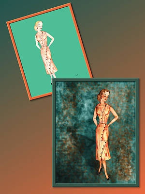 Drawing - Dress Design 18 by Judi Quelland