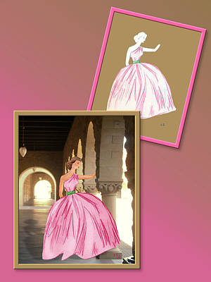 Drawing - Dress Design 25 by Judi Quelland