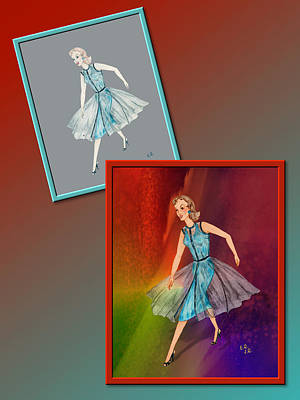 Drawing - Dress Design 29 by Judi Quelland