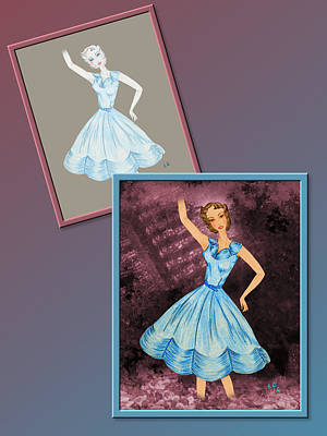 Drawing - Dress Design 36 by Judi Quelland