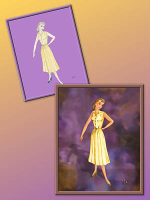 Drawing - Dress Design 43 by Judi Quelland