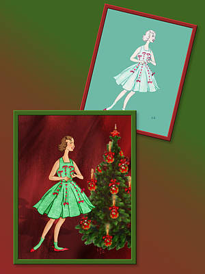 Drawing - Dress Design 47 by Judi Quelland
