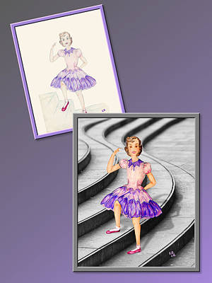 Drawing - Dress Design 49 by Judi Quelland