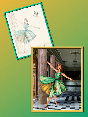 Drawing - Dress Design 50 by Judi Quelland