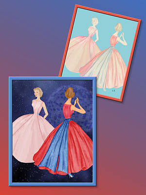 Drawing - Dress Design 52 by Judi Quelland