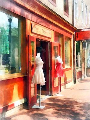 Dresses Photograph - Dress Shop Fells Point Md by Susan Savad