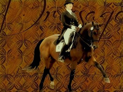 Photograph - Dressage Dance Art by JAMART Photography