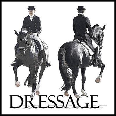 Dressage II Art Print